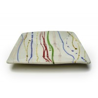 "Square Dish 10""w. - Banded"
