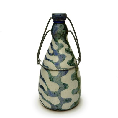"Bottle 9.5""h. - Blue/Green"
