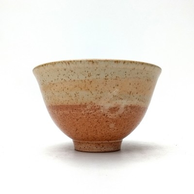 "Bowl 7""d. - Cream/Brown Glaze"