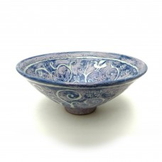 "Bowl 11""d. - Blue Woodland"