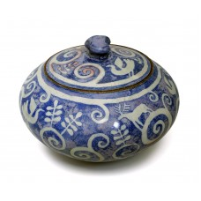 Pot with lid - Blue Woodland