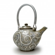 Teapot - resist decoration