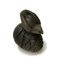 Bird on Fir Cone - Sculpture