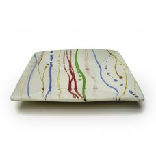 """Square Dish 10""""w. - Banded"""