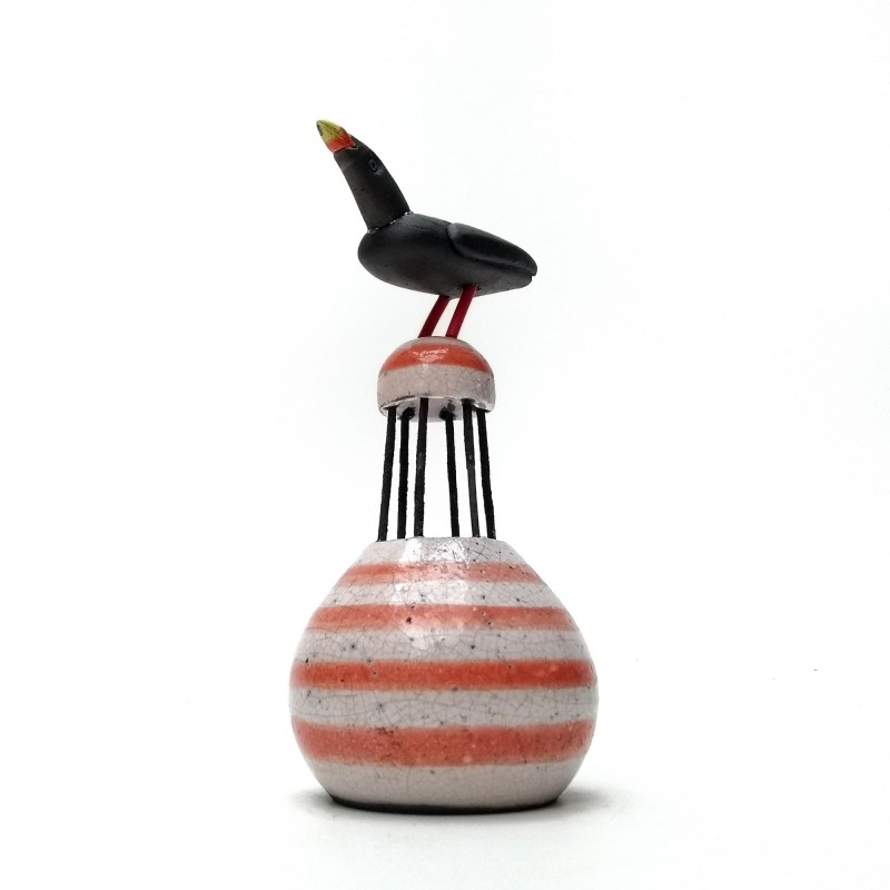 Raku Bird on Buoy
