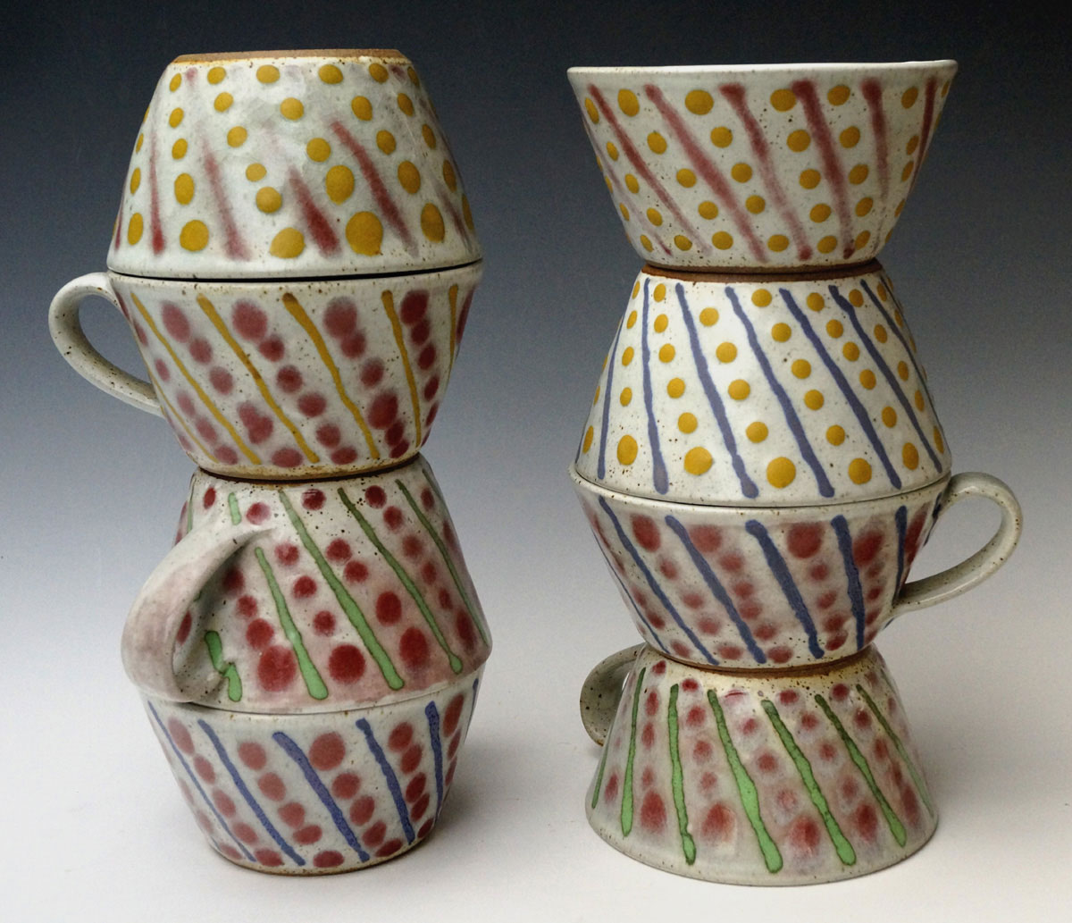 Cups with Dot/Stripe decoration
